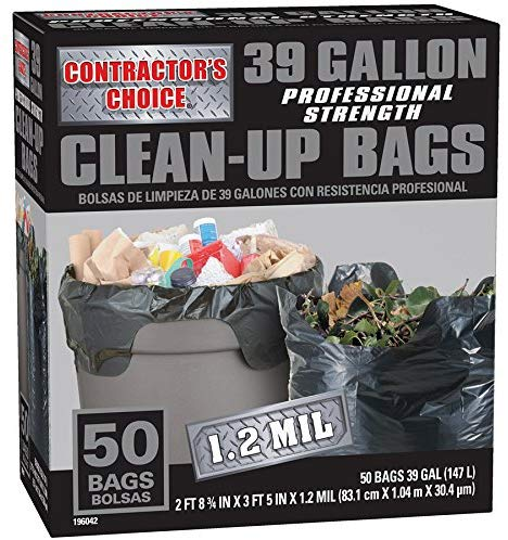 Contractor's Choice 50-Count 39-Gallon Outdoor Construction Trash Bags