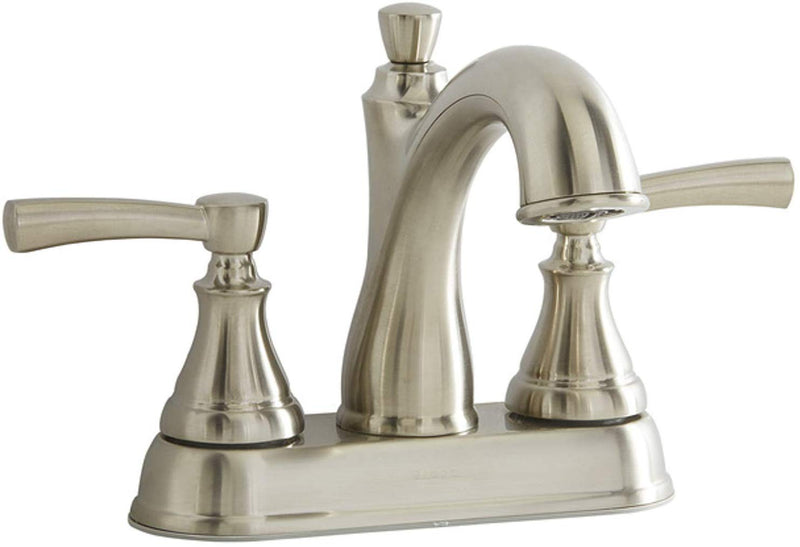Giagni Mitchell Brushed Nickel 2-Handle 4-in Centerset WaterSense Bathroom Sink Faucet with Drain