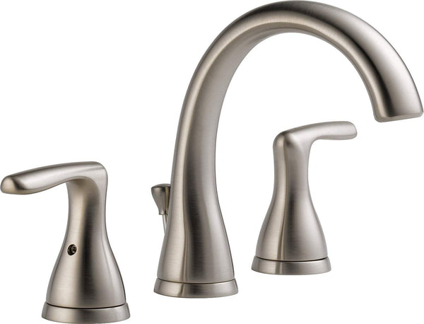 Peerless 2-Handle Widespread Bathroom Faucet with Pop-Up Drain Assembly, Brushed Nickel P99137LF-BN