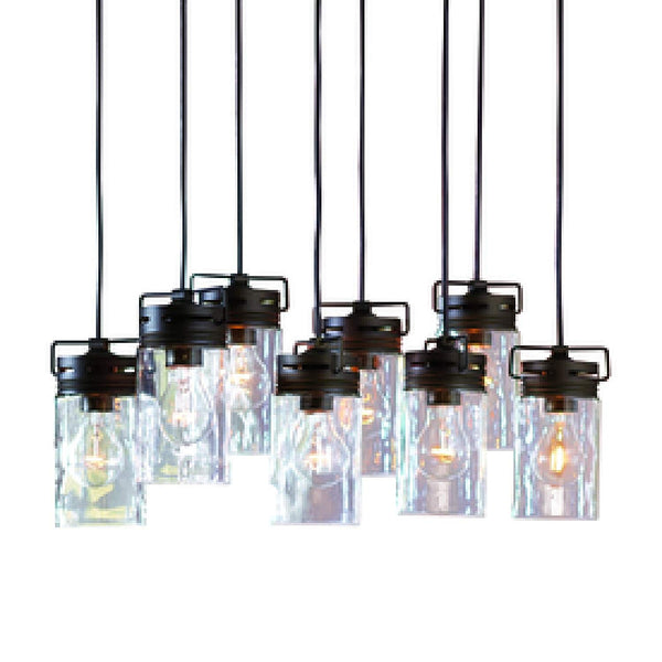 Vallymede 7.7-in Aged Bronze Hardwired Standard Multi-Pendant Light with Clear Glass Shade Bottle