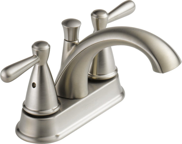 Peerless Bayside 2-Handle Centerset Bathroom Faucet with Drain Assembly, Brushed Nickel P99640LF-BN