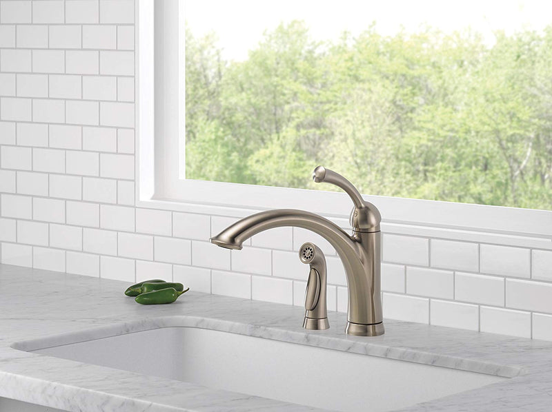 Delta 11926-DST Lewiston Side Spray Kitchen Faucet with Diamond Seal Technology,
