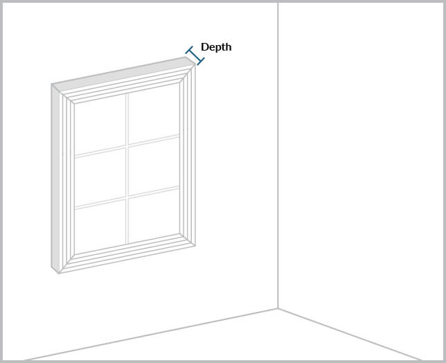 Depth of window