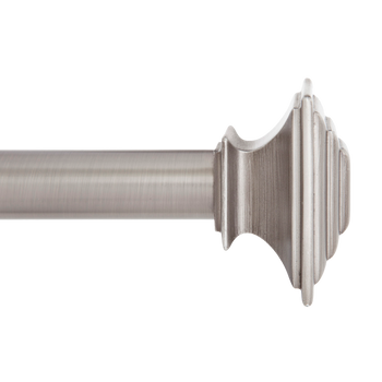 "1"" Mission Curtain Rod With Stacked Square Finials, 48"" to 86"""