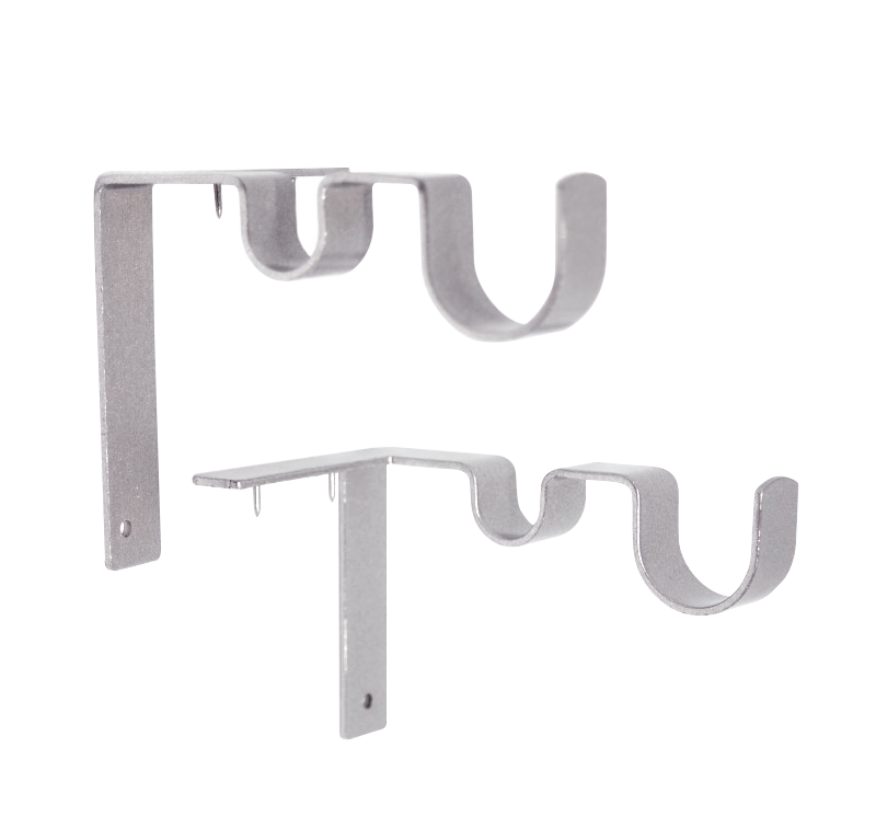 Double Curtain Rod Brackets