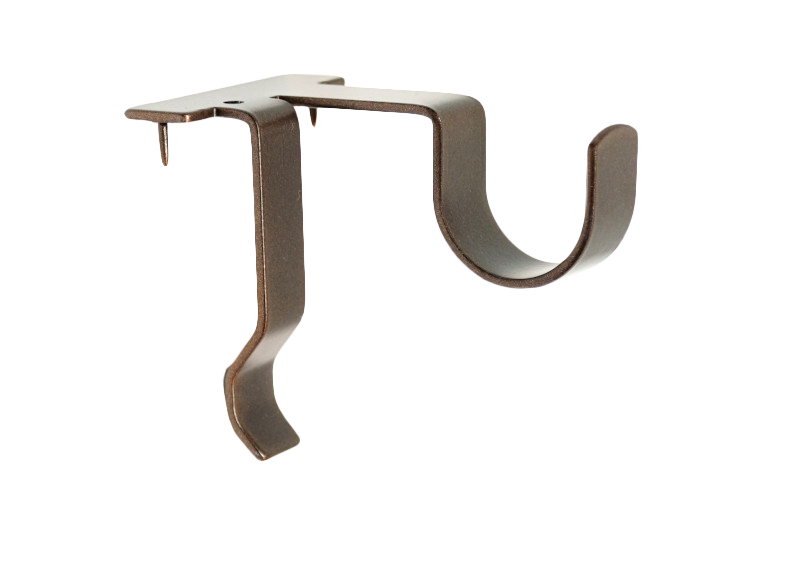 Single Center Support Curtain Rod Bracket