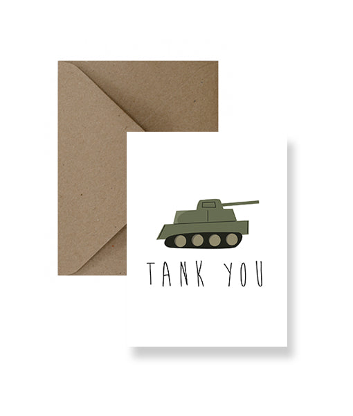 ImPaper - Tank You Greeting Card