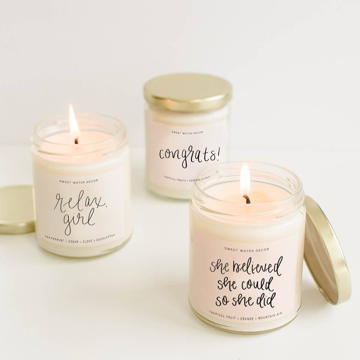 Sweet Water Decor - Let's Stay Home Soy Candle