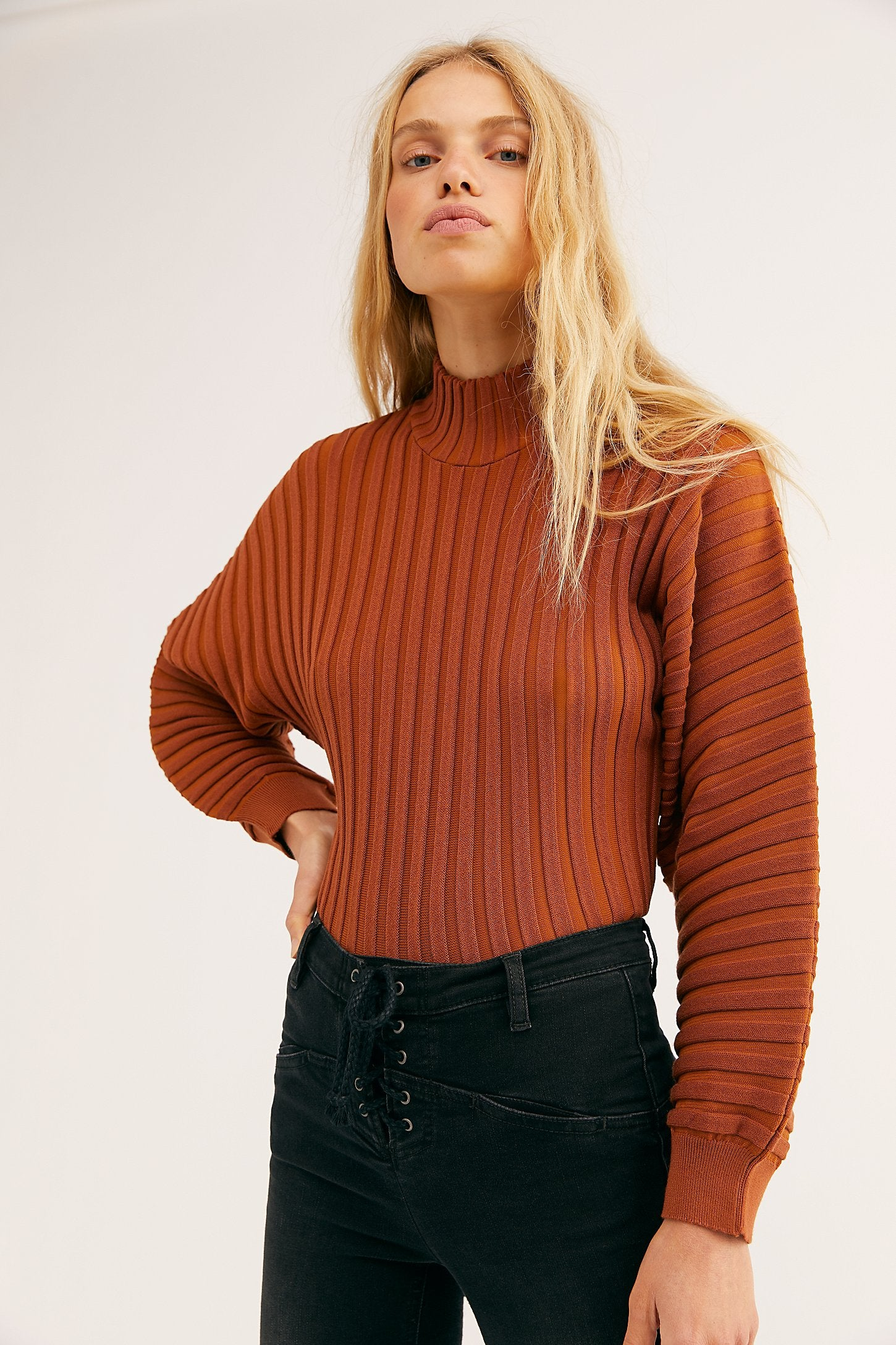 Free People Mad Chill Turtleneck || Rust or Ivory