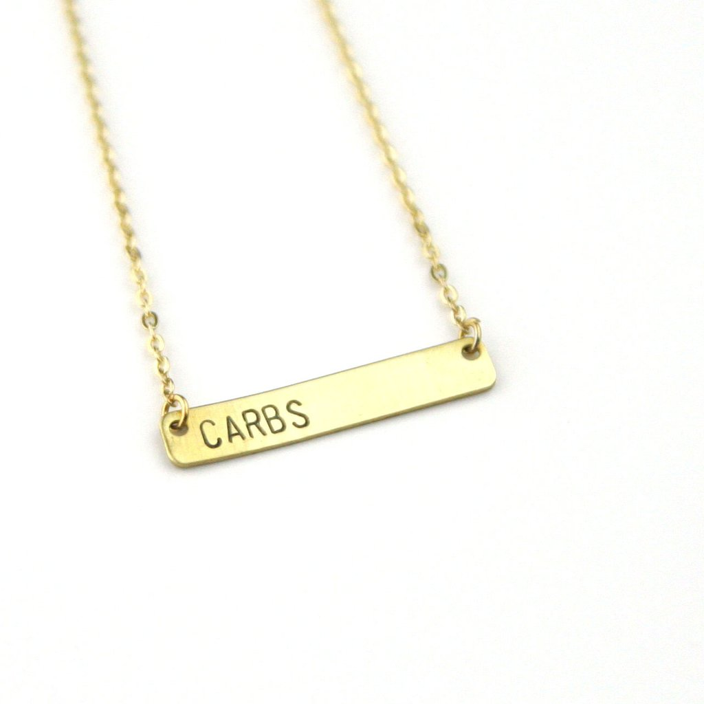Peachtree Lane - Carbs - Stamped Bar Necklace