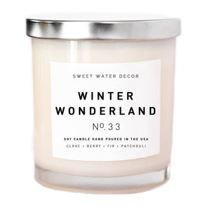 Sweet Water Decor - Winter Wonderland Soy Candle | White Jar Candle