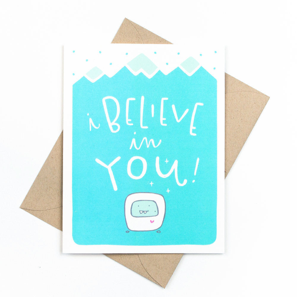 Pinwheel Print Shop - I Believe In You Graduation Card