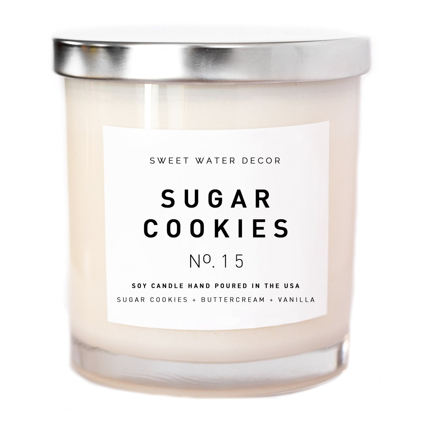 Sweet Water Decor - Sugar Cookies Soy Candle | White Jar Candle