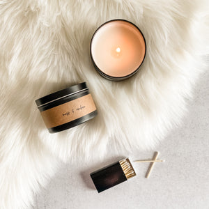 Escentially Annie Soy Candle || Moss & Amber