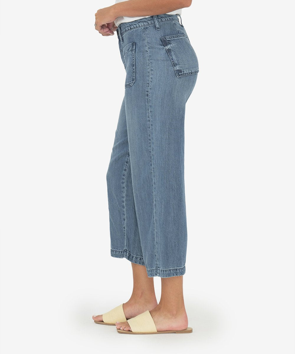 Kut From The Kloth || Sandra Crop Straight Leg in Physical Wash