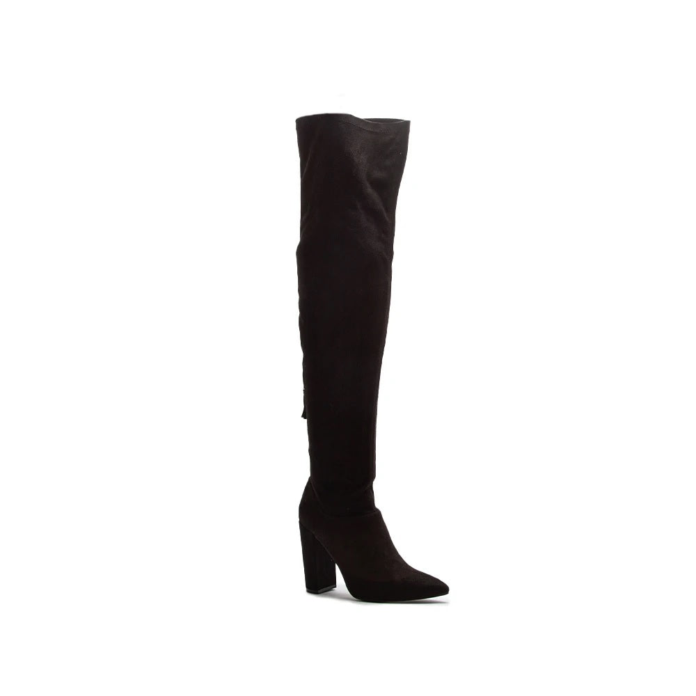A New Height Over The Knee Boots || Black or Coffee