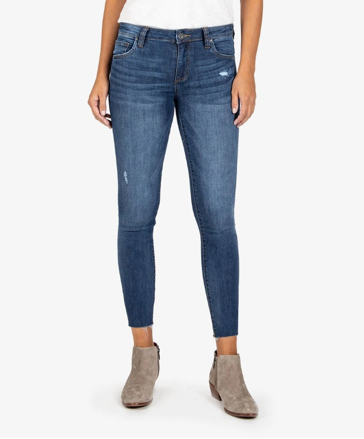 Kut From The Kloth || Connie Slim Fit Ankle Skinny in Expression Wash