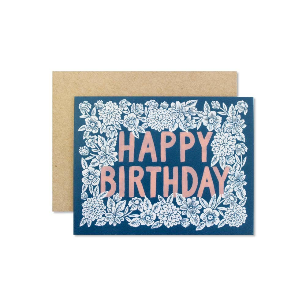 Wild Hart Paper - Floral Birthday Card