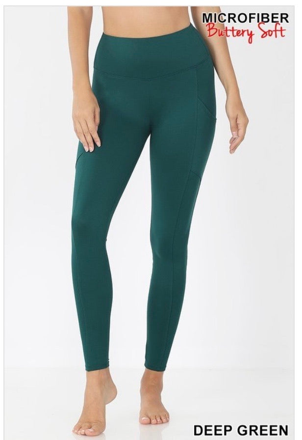 Everyday Soft Pocket Leggings || 5 Colors