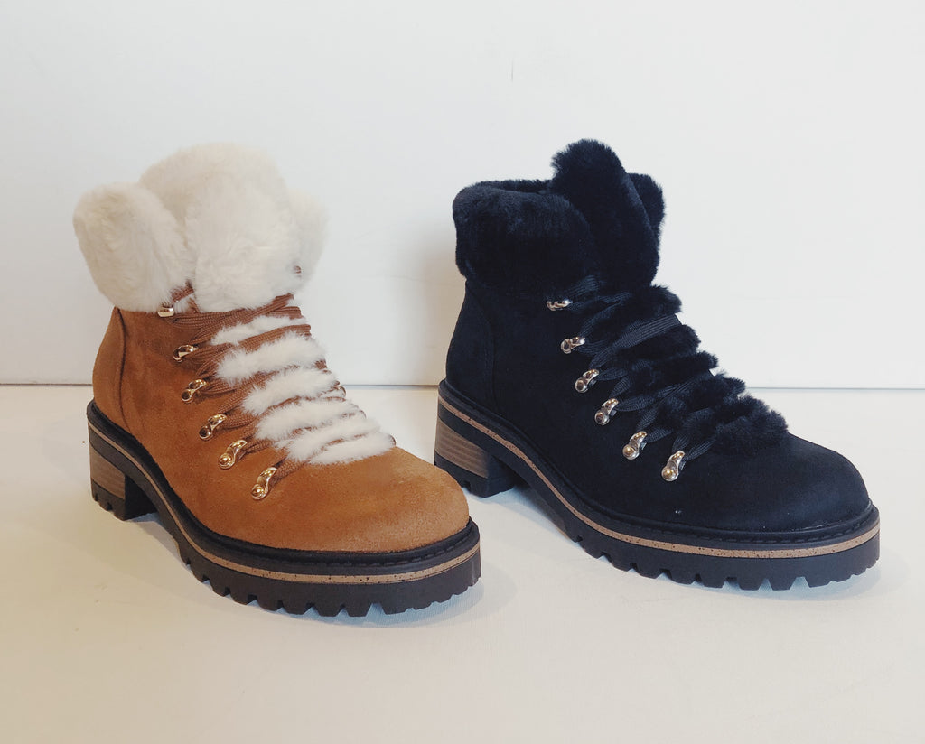 Hadley Hiker Boot || Black or Dark Camel