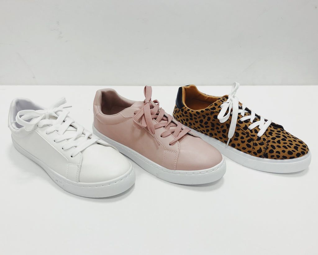Everyday Sneaker || Blush, White or Leo