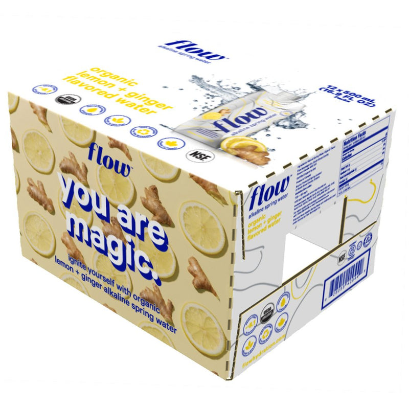12 pack of 16.9oz - Lemon + Ginger