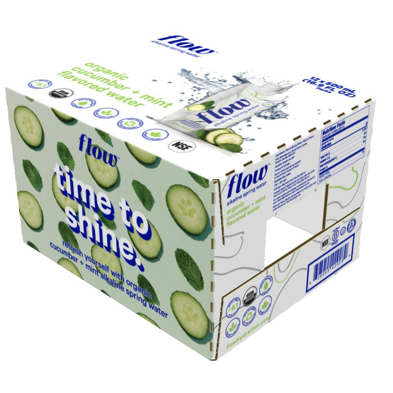 12 pack of 16.9oz - Cucumber + Mint