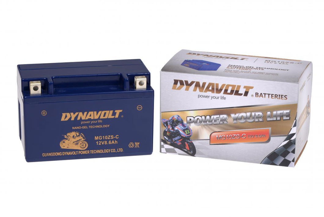 YTZ10S Motorcycle BATTERY, NanoTEC GEL Acid Free MG10ZS