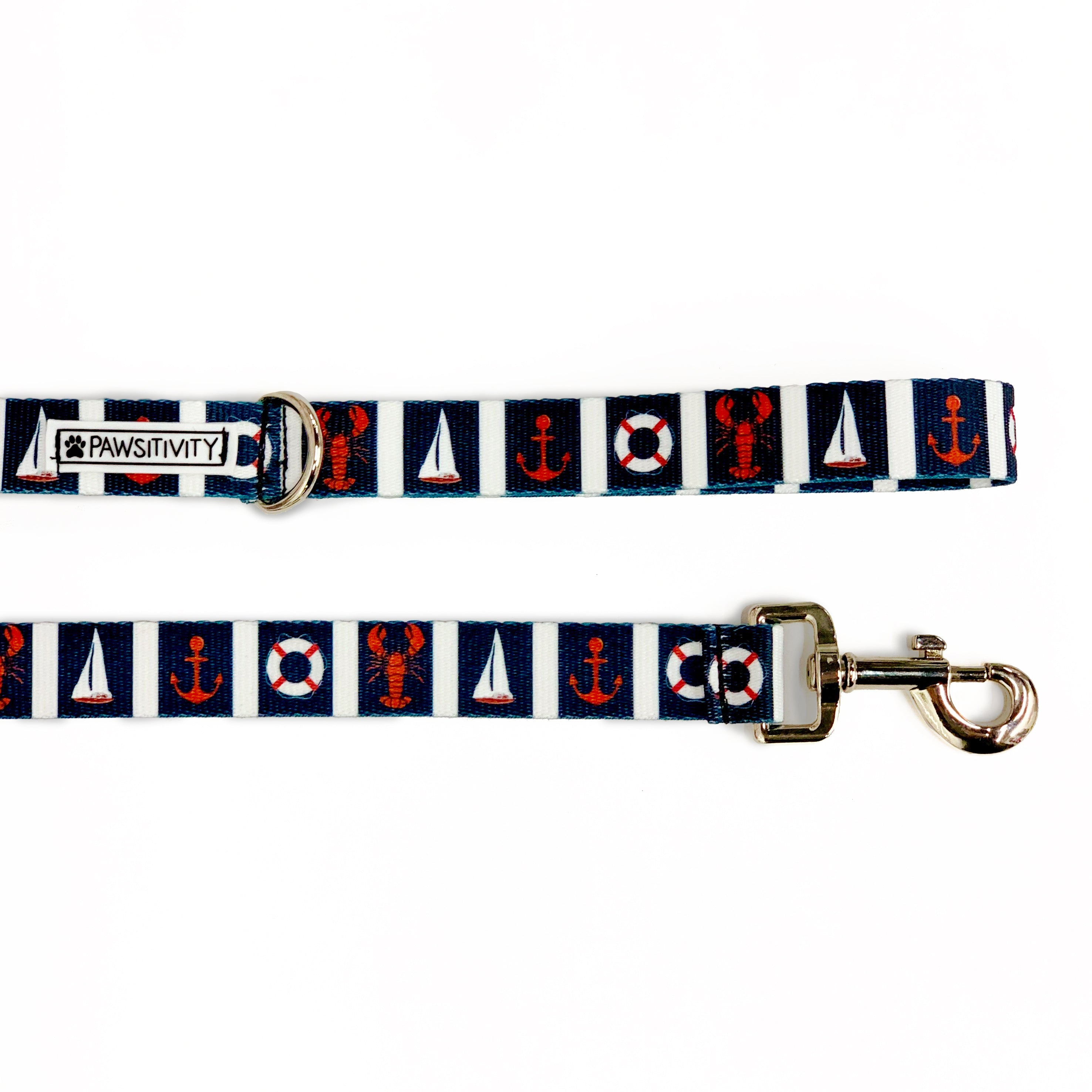 Navy Nautical Leash
