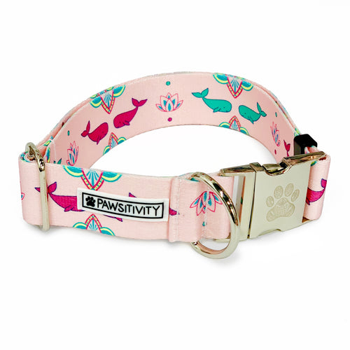 "Pink Whales 1.5"" Statement Collar"