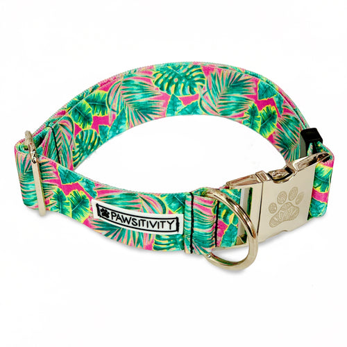 "Pink Palms 1.5"" Statement Collar"
