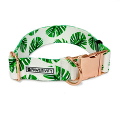 "Tropical Palms 1.5"" Statement Collar"