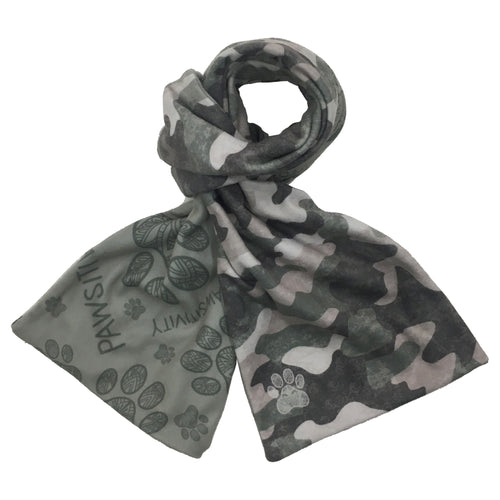 Snow Camo Reversible Scarf