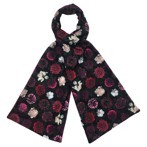 Midnight Floral Reversible Scarf