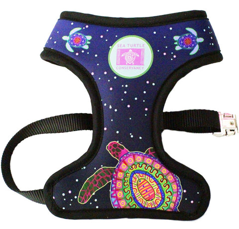 Sea Turtle Conservancy Pink Lotus Turtle Reversible Harness