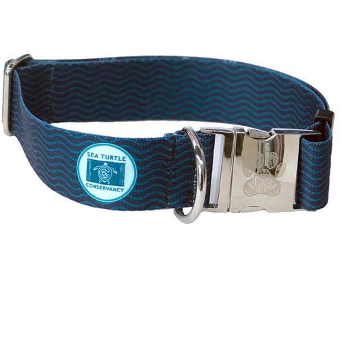 Sea Turtle Conservancy Navy Waves Collar