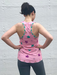 Sea Turtle Conservancy Pink Lotus Turtles Women's Racerback Tank