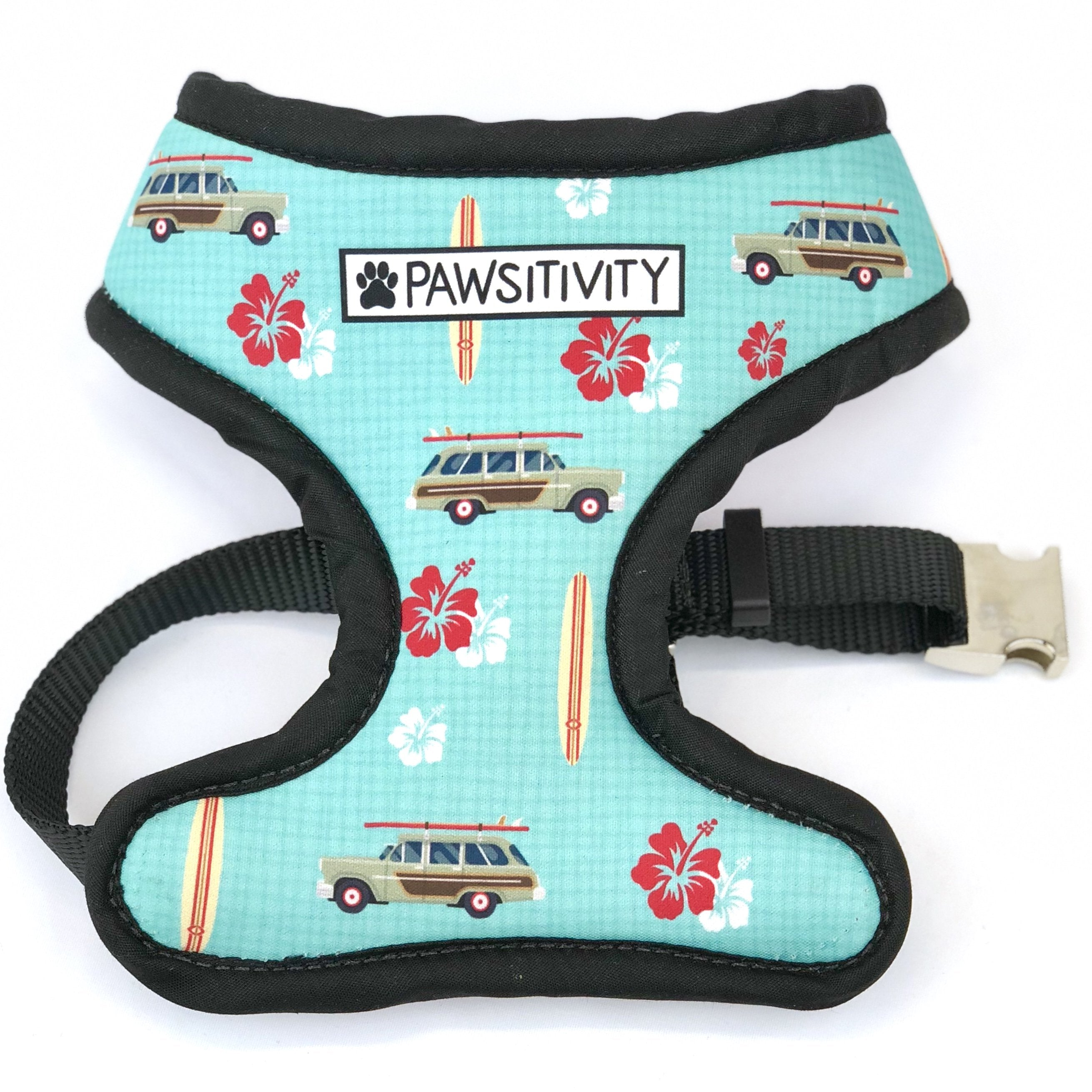 Pawsitivity Reversible Harness - Surf Wagons & Hawaiian