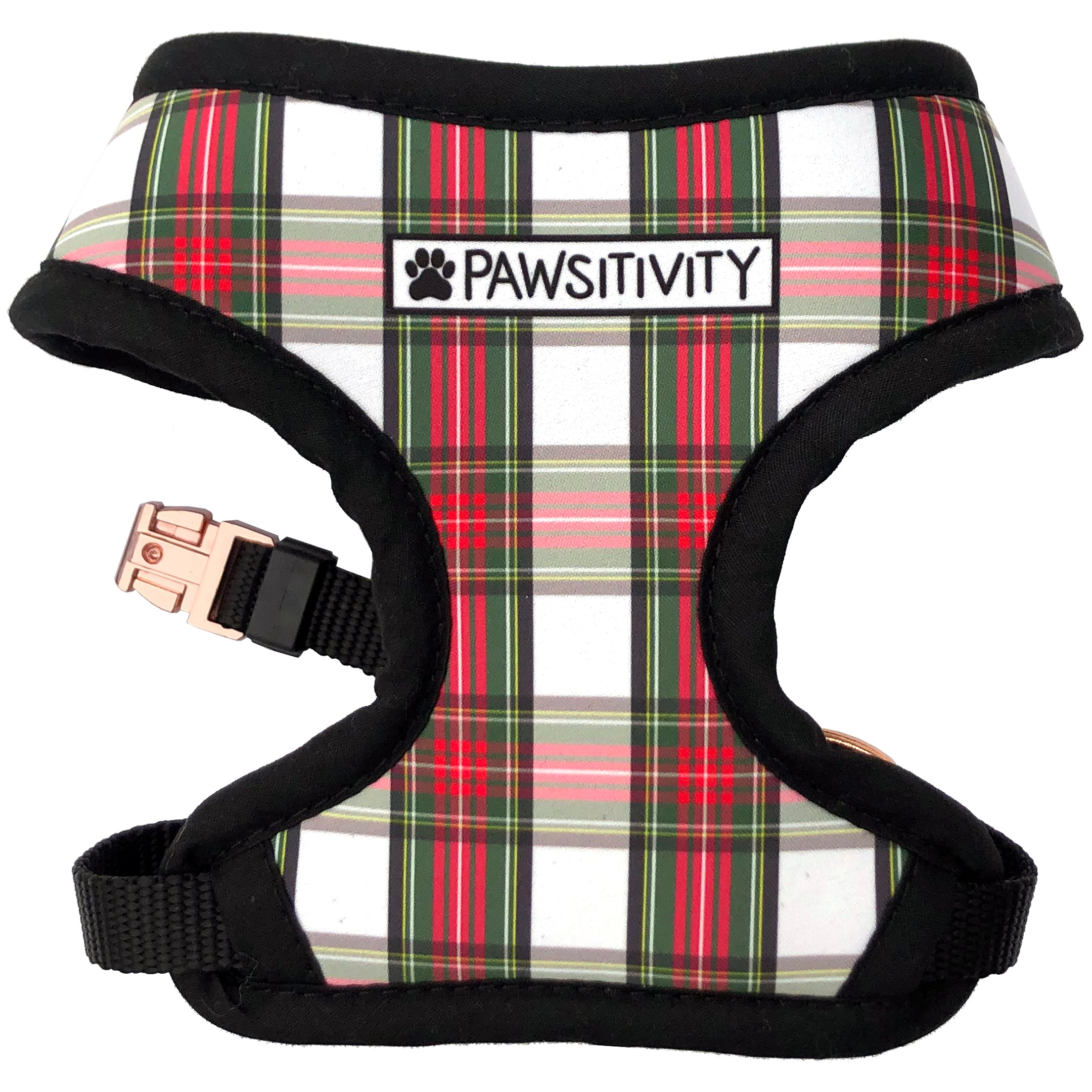 Pawsitivity Reversible Harness - Winter Sweater & Holiday Plaid