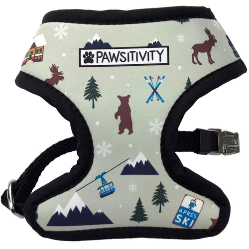 Pawsitivity Reversible Harness - Light Green Winter Adventure & Plaid