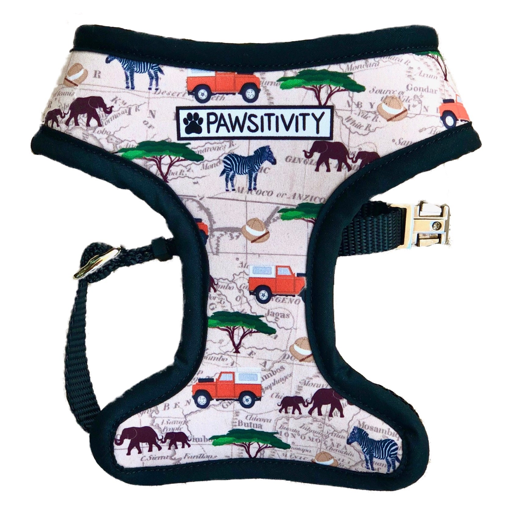 Pawsitivity Reversible Harness - Leopard & Land Woofer