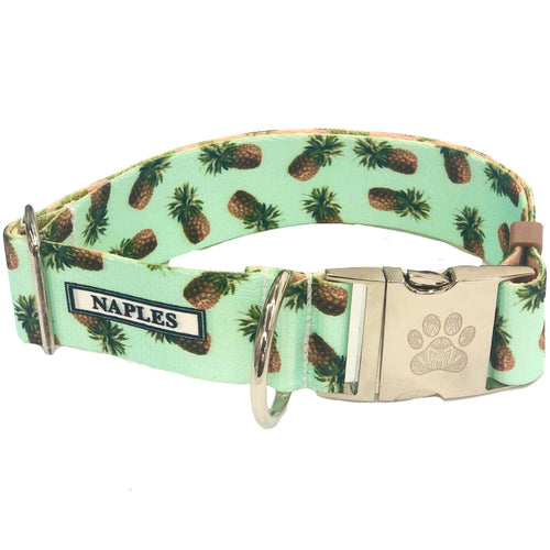 "Naples Mint Pineapples 1.5"" Collar"