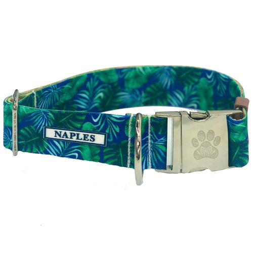"Naples Blue Palms 1.5"" Collar"