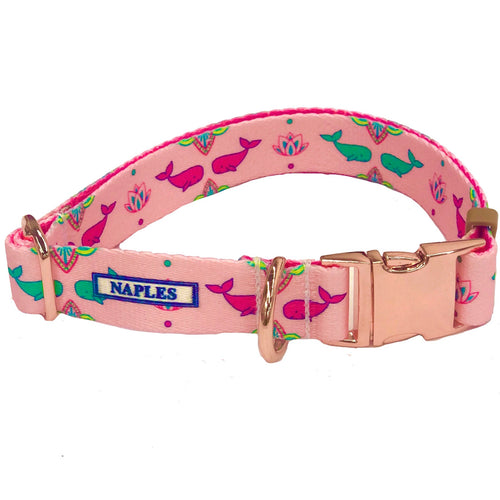 Naples Pink Whales Collar