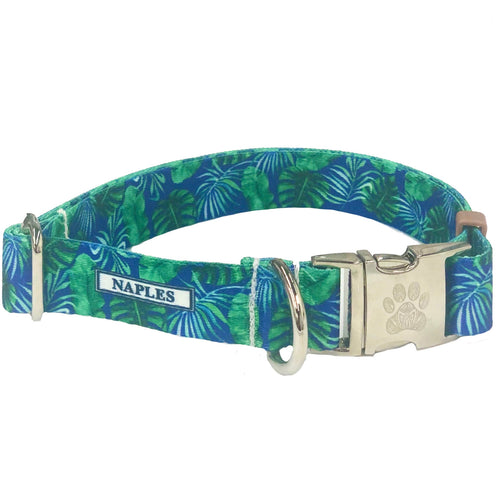 Naples Blue Palms Collar