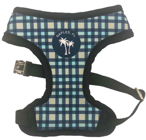 Reversible Harness - Naples Paradise Print & Blue Gingham