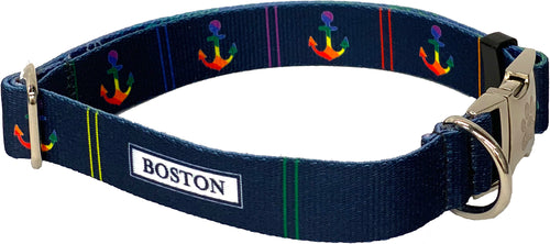 Navy Boston Pride Collar