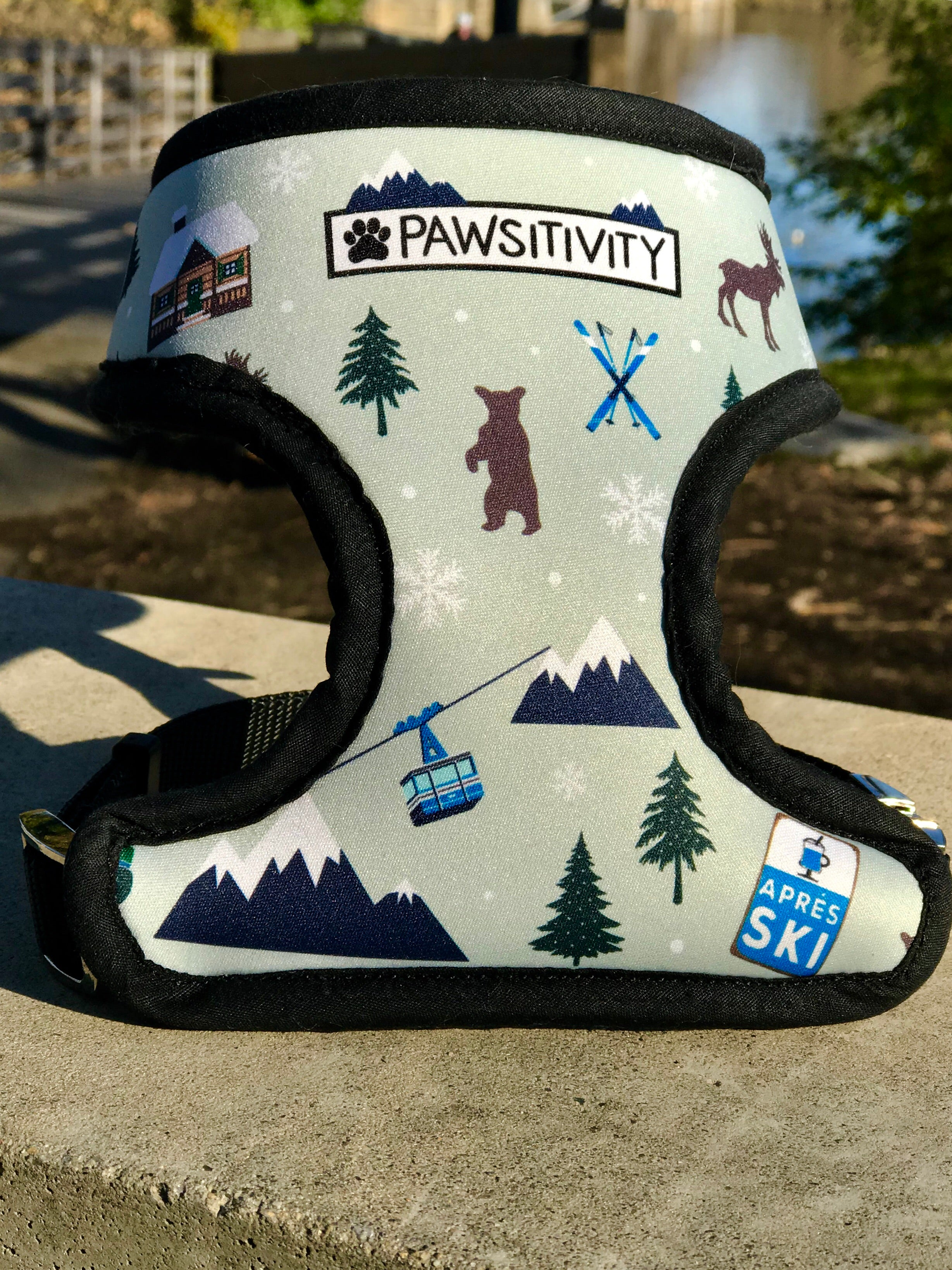 Pawsitivity Reversible Harness - Winter Explorer Spruce Green & Birch