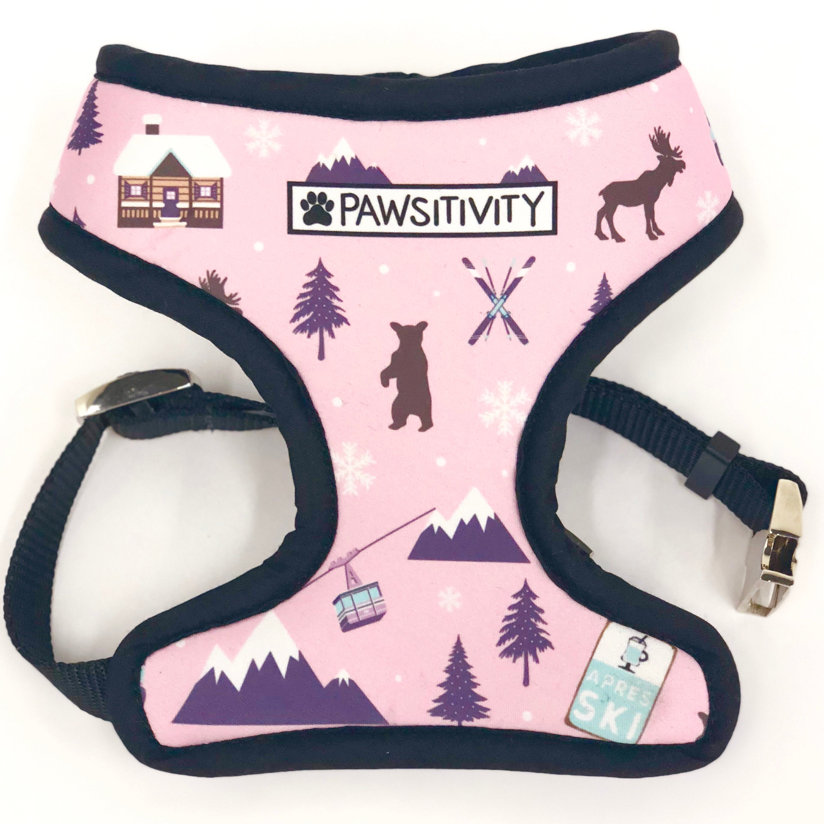 Pawsitivity Reversible Harness - Winter Explorer Pink & Birch