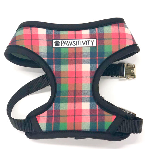 Pawsitivity Reversible Harness - No Decaf Donut & Plaid